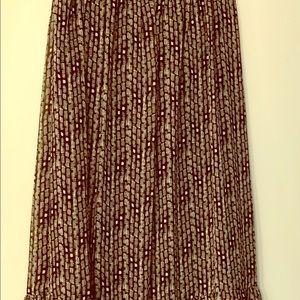 Candies Black & White flowy maxi skirt